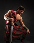 Scottish warrior — Stock Photo