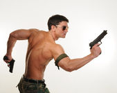Hot military stud — Stockfoto