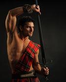 Handsome highlander — Stock Photo