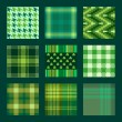 Plaids and check patterns in green tones — Stock Vector #38414009