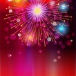 colored lights and bursts for the new year — Stock Vector