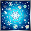 Stock Vector: Snowflake composition for winter holidays