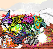 Graffiti — Vetorial Stock