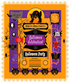 Halloween design elements — Stock Vector