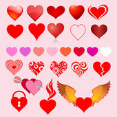 Collection of heart icons — Stockvektor