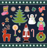 Christmas and New Years Holiday icons and images — Stock Vector