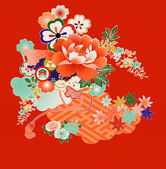 Vintage Japanese kimono designs — Stock Vector