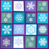 Muster der schneeflocken — Stockvektor