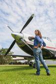 Women pilot — Stock Photo