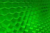 Green abstract cubes background — Stock Photo