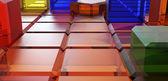 Bereich der bunten prismen — Stockfoto