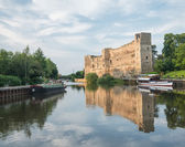 River Trent and Newark Castle at Sunset — Stock Photo