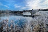 Gunthorpe Bridge on a cold morning — Stok fotoğraf