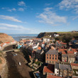 Sun Shining in Staithes, East Yorkshire, England — Stock Photo