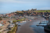 River Estuary at Whitby, North Yorkshire — Stock Photo