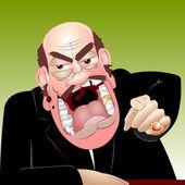 Chefe zangado — Foto Stock