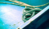 Rope on the Deck — Stock Photo