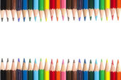 Color pencils Frame on White Background — Stock Photo