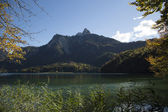 Lake Alpsee in Autumn — Stock Photo