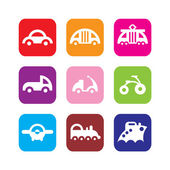 Set of transportation icons — Stock Vector
