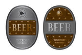 Two oval beer label — Stock Vector