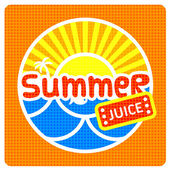 Summer juice label — Stockvektor