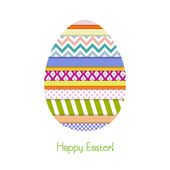 Greeting card with Easter egg — Stock Vector