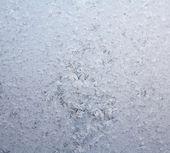 Frosty natural pattern on winter window — Foto de Stock