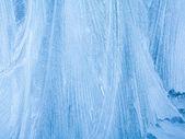 Mrazivý přírodní vzor na zimní okno — Stock fotografie