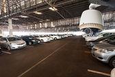 CCTV Camera Operating in garage or car park — Stockfoto