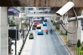 CCTV Camera Operating on road detecting traffic — Stock Photo