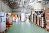 CCTV Camera Operating inside warehouse or factory — 图库照片