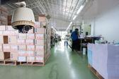 CCTV Camera Operating inside warehouse or factory — Stock Photo