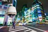 CCTV Camera or surveillance operating on street and building at  — Stock Photo