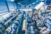 CCTV Camera or surveillance operating inside industrial factory — Foto Stock