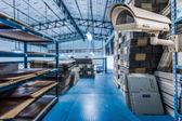 CCTV Camera Operating inside warehouse or factory — Zdjęcie stockowe