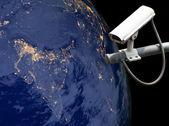 CCTV Exploring India, Globe image from Nasa.gov — Stock Photo
