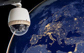 CCTV Exploring europe region, Globe image from Nasa.gov — Stock Photo