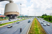 CCTV Camera or surveillance Operating on traffic road — Stock Photo