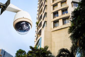 CCTV Camera or surveillance Operating out side apartment or cond — Stock Photo