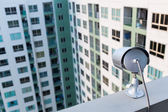 CCTV Camera or surveillance Operating on apartment or condominiu — Stock Photo