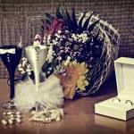 Wedding Arrangement (vintage style) — Stock Photo