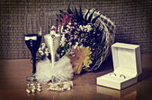 Wedding Arrangement (vintage style) — Foto Stock