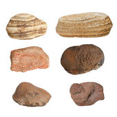 Collection Rocks isolated on white background — Stock Photo