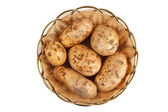 Potato în basket — Stock Photo