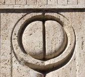 Constantin Brancusi's Kissing Gate details — Stock Photo