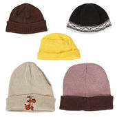 Collection of winter hats — Stock Photo
