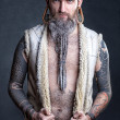 A man with a long beard. — 图库照片