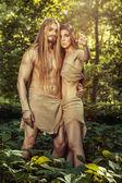 Wild men. — Stockfoto