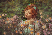 Niña de las flores — Foto de Stock